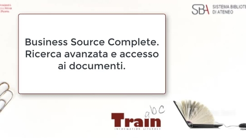Thumbnail for entry Business Source Complete. Ricerca avanzata.