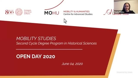 Thumbnail for entry #Openday2020 | Mobility Studies. Second cycle degree in Historical Sciences. June 4th, 2020
