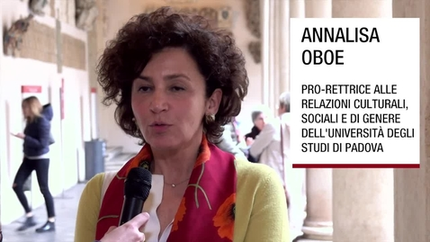Thumbnail for entry Intervista ad Annalisa Oboe, Padova, 8 aprile 2019