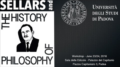 Thumbnail for entry Sellars and the History of Philosophy - Introduction