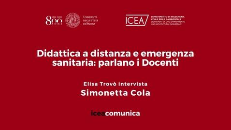 Thumbnail for entry Iceacomunica intervista la Professoressa Simonetta Cola