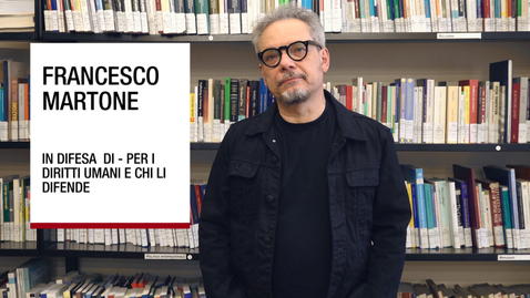Thumbnail for entry Intervista a Francesco Martone sul tema dei difensori dei diritti umani e delle città rifugio, 17 maggio 2018, Università di Padova