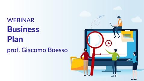 Thumbnail for entry Business Plan - prof. Giacomo Boesso