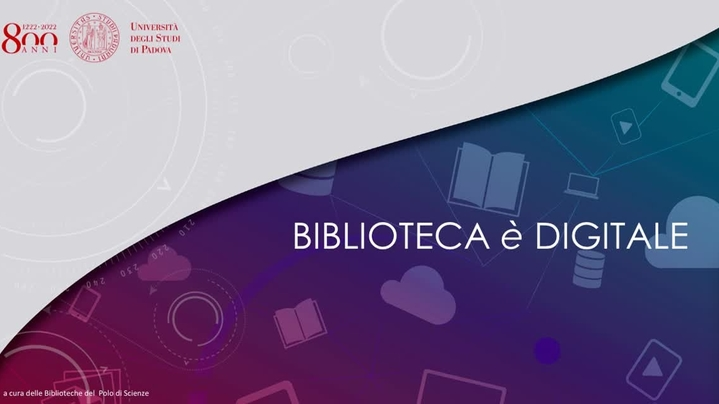 Thumbnail for channel Biblioteca Digitale