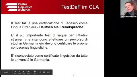 Thumbnail for entry Registrazione incontro informativo TestDaF_26 marzo 2020