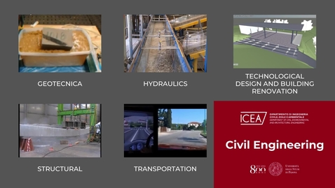 Thumbnail for entry Presentation of First Cycle Degree and Master's Degree in Civil Engineering