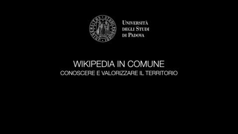 Thumbnail for entry Wikipedia in Comune. Conoscere e valorizzare il territorio