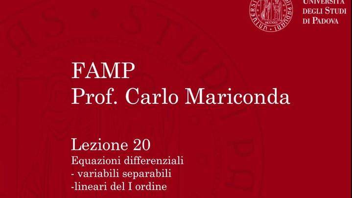 Thumbnail for channel Lezioni di CAMP/FAMP a.a 2016/17: Analisi 2 e Probabilità