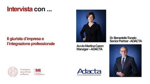 Thumbnail for entry Il Giurista d'impresa - intervista con Martina Caron e Benedetto Tonato