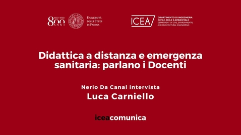 Thumbnail for entry Iceacomunica intervista il Professore Luca Carniello