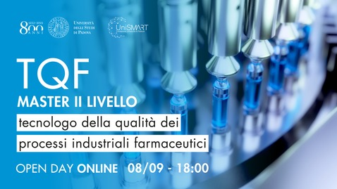 Thumbnail for entry Open Day Master TQF - Tecnologo della qualità dei processi industriali farmaceutici - 08/09/20