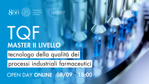 Thumbnail for entry Open Day Master TQF - Tecnologo della qualità dei processi industriali farmaceutici - 08/09/20
