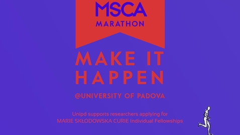 Thumbnail for entry Marie Sklodowska Curie Marathon