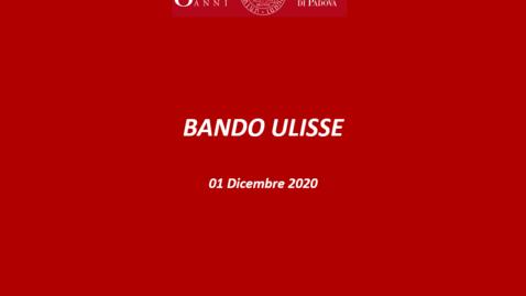Thumbnail for entry Presentazione bando Ulisse 2020/21