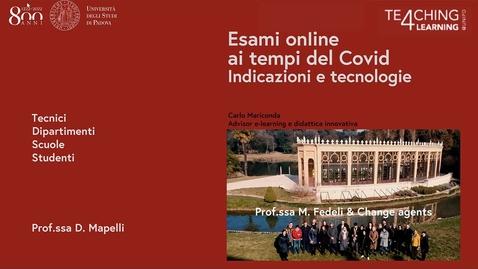 Thumbnail for entry Indicazione sugli esami online nella sessione estiva ai tempi del Covid - versione 28/5/2020