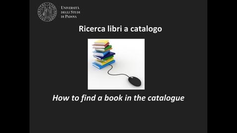 Thumbnail for entry Ricerca libri a catalogo 1 - Geoscienze (ITA/ENG)