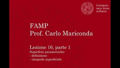 Thumbnail for entry FAMP - Lezione 16, parte 1