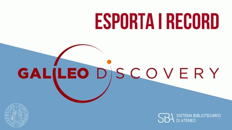 Thumbnail for entry TUTORIAL Esporta i record
