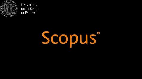 Thumbnail for entry La ricerca per argomento 1-2: Scopus