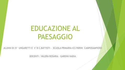 Thumbnail for entry Educazione al paesaggio