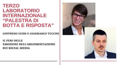 Thumbnail for entry Goffredo Guidi e Gianmarco Tuccini- Il peso delle emozioni nell'argomentazione sui social media