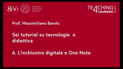 Thumbnail for entry 6. L'inchiostro digitale e One Note