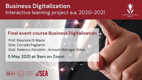 Thumbnail for entry Business Digitalization - Interactive learning project A.Y. 2020/21