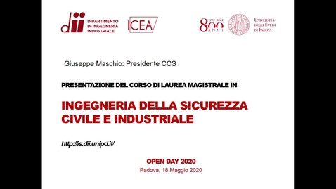 Thumbnail for entry Open Day Ingegneria della sicurezza civile e industriale