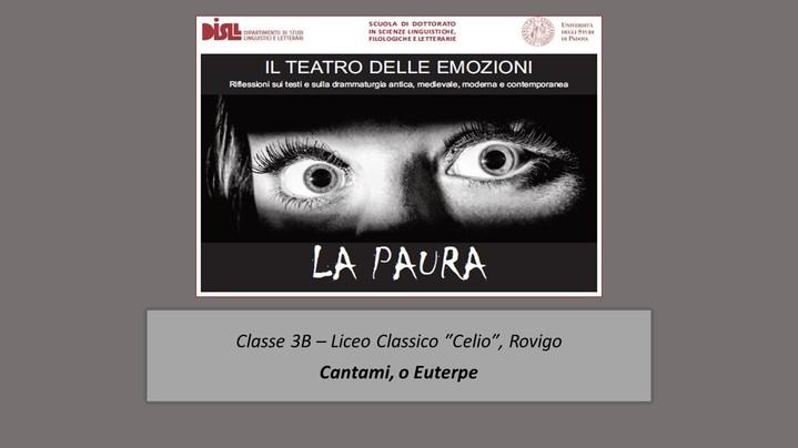 Thumbnail for channel Il teatro delle emozioni - LA PAURA