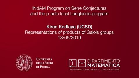 Thumbnail for entry Kiran Kedlaya , Representations of products of Galois groups, 18 June 2019, INdAM Program