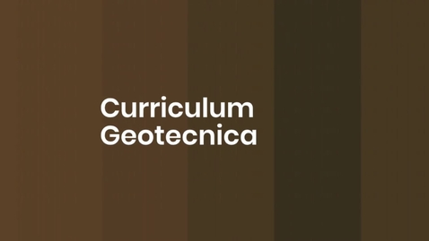 Thumbnail for entry Presentazione del Curriculum Geotecnica