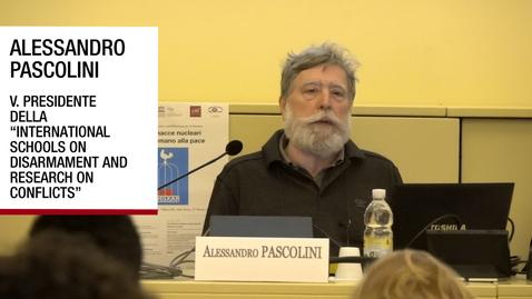 Thumbnail for entry Intervista ad Alessandro Pascolini, Padova, 27 marzo 2019