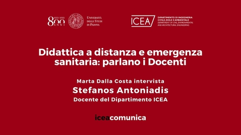 Thumbnail for entry Iceacomunica intervista il Professore Stefanos Antoniadis