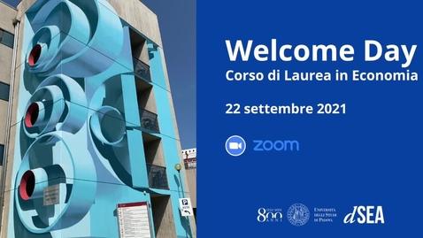 Thumbnail for entry Welcome Day del Corso di Laurea in Economia (TrEC) a.a. 2021/22