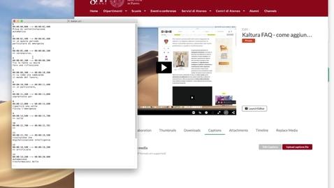 Thumbnail for entry 10. Come aggiungere sottotitoli a partire da un file già esistente?