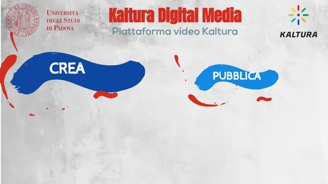 Thumbnail for entry Kaltura digital media - la piattaforma video per l'Università di Padova