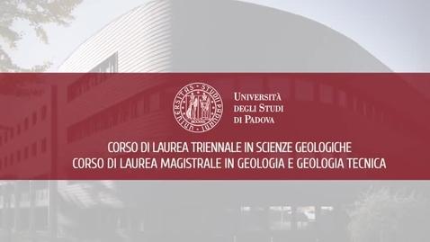 Thumbnail for entry Corso di LT in Scienze Geologiche e Corso di LM in Geologia e Geologia Tecnica - Scuola di Scienze