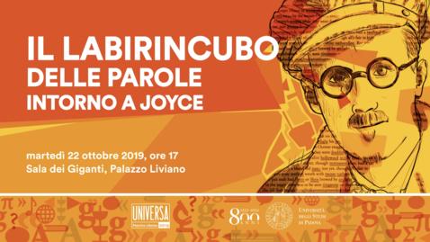Thumbnail for entry Il labirincubo delle parole intorno a Joyce - Alessandro Bergonzoni
