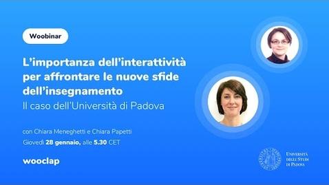 Thumbnail for entry L'importanza dell'interattività per affrontare le nuove sfide dell'insegnamento