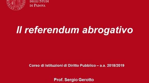 Thumbnail for entry Il referendum abrogativo