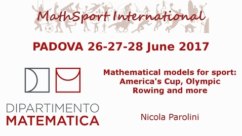 Thumbnail for entry MathSport International 2017: Mathematical models for sport: America's Cup, Olympic Rowing and more