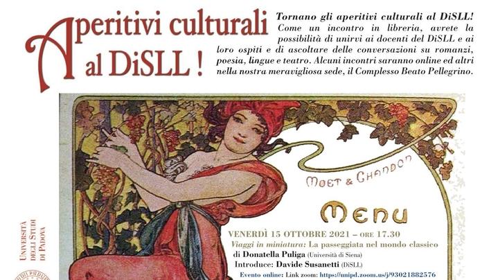 Thumbnail for channel Aperitivi culturali al DiSLL 2021