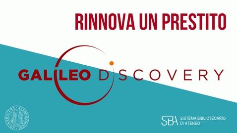 Thumbnail for entry TUTORIAL Rinnova un prestito
