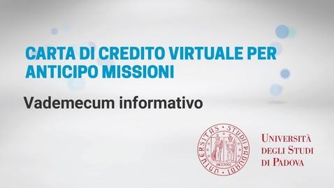 Thumbnail for entry Vademecum Carta di credito virtuale
