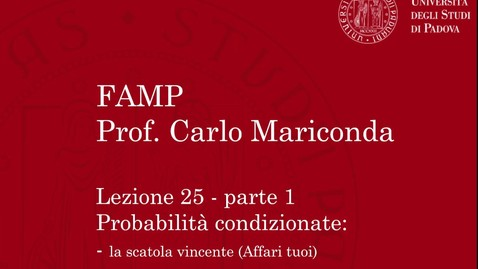Thumbnail for entry FAMP - Lezione 25, parte 1