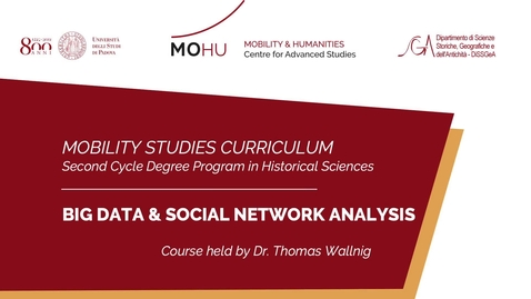 Thumbnail for entry #mobilitystudies - Big Data and Social Network Analysis