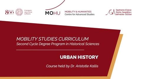 Thumbnail for entry #mobilitystudies - Urban history
