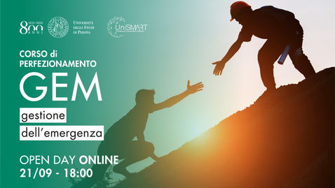 Thumbnail for entry Open Day Corso GEM - Gestione dell'Emergenza - 21/09/20