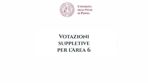 Thumbnail for entry Videotutorial votazioni docenti Area 6