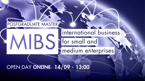 Thumbnail for entry Open Day Master MIBS - International business for small and medium size enterprises - 14/09/20
